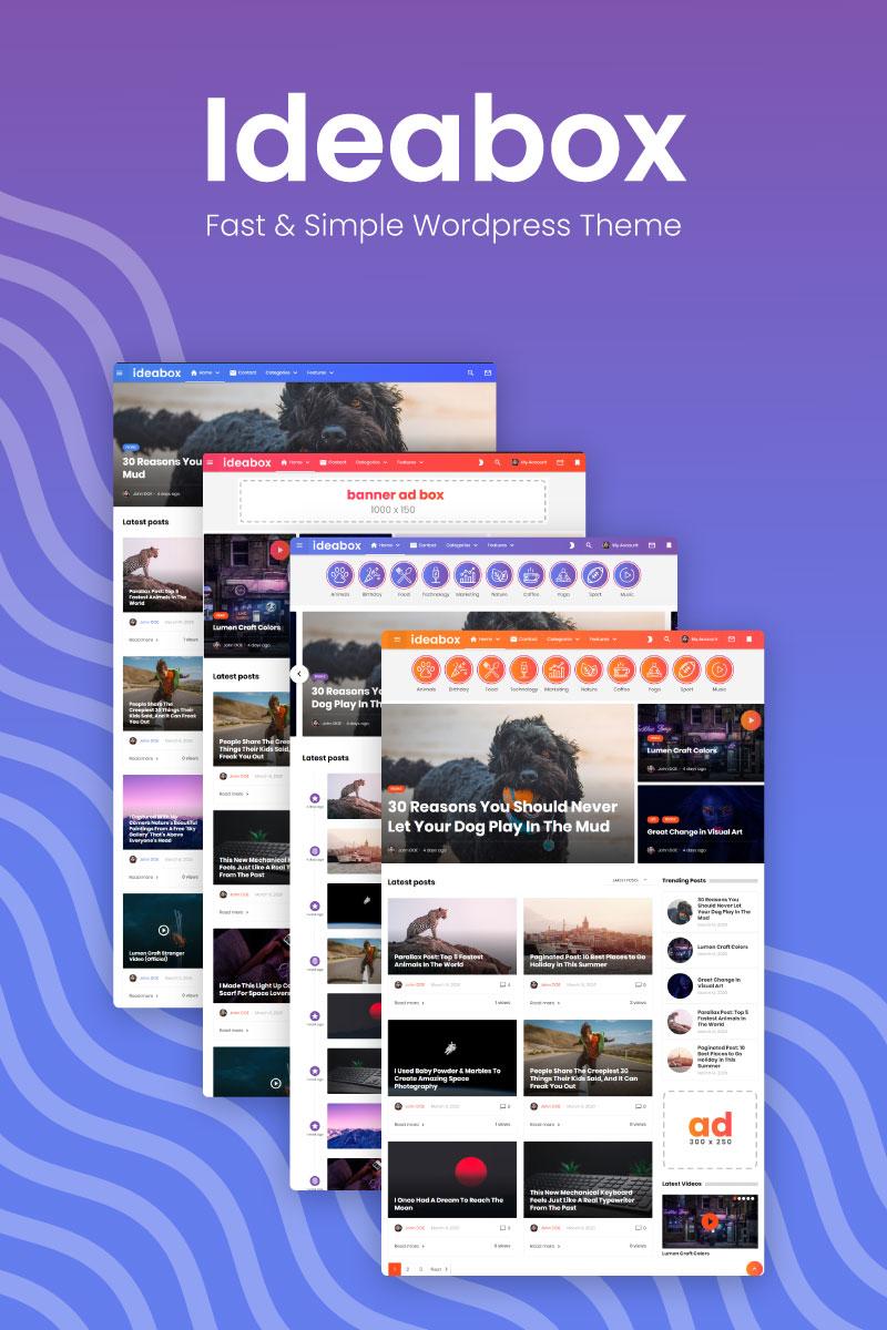 "Template WordPress Responsive #98857 ""Ideabox Blog and Magazin"""