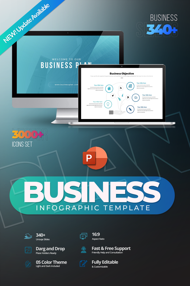 Business Plan Infographic PowerPoint Template