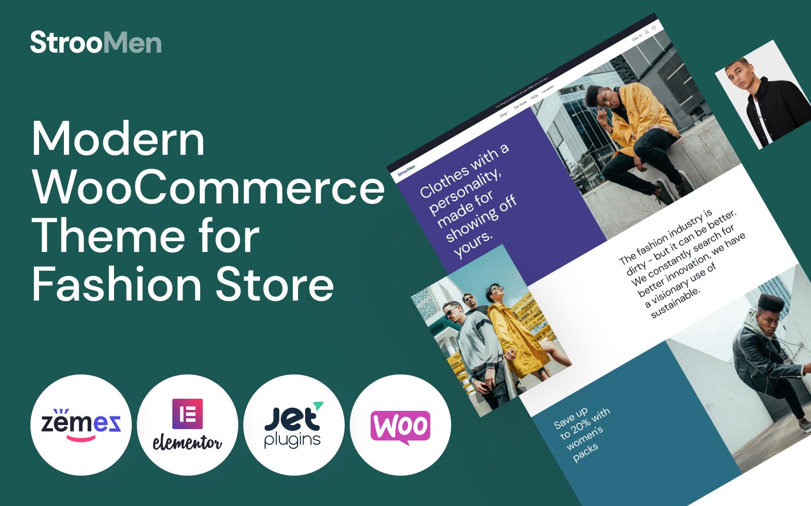 Responsive StrooMen - Men's Fashion eCommerce Store Woocommerce #98940