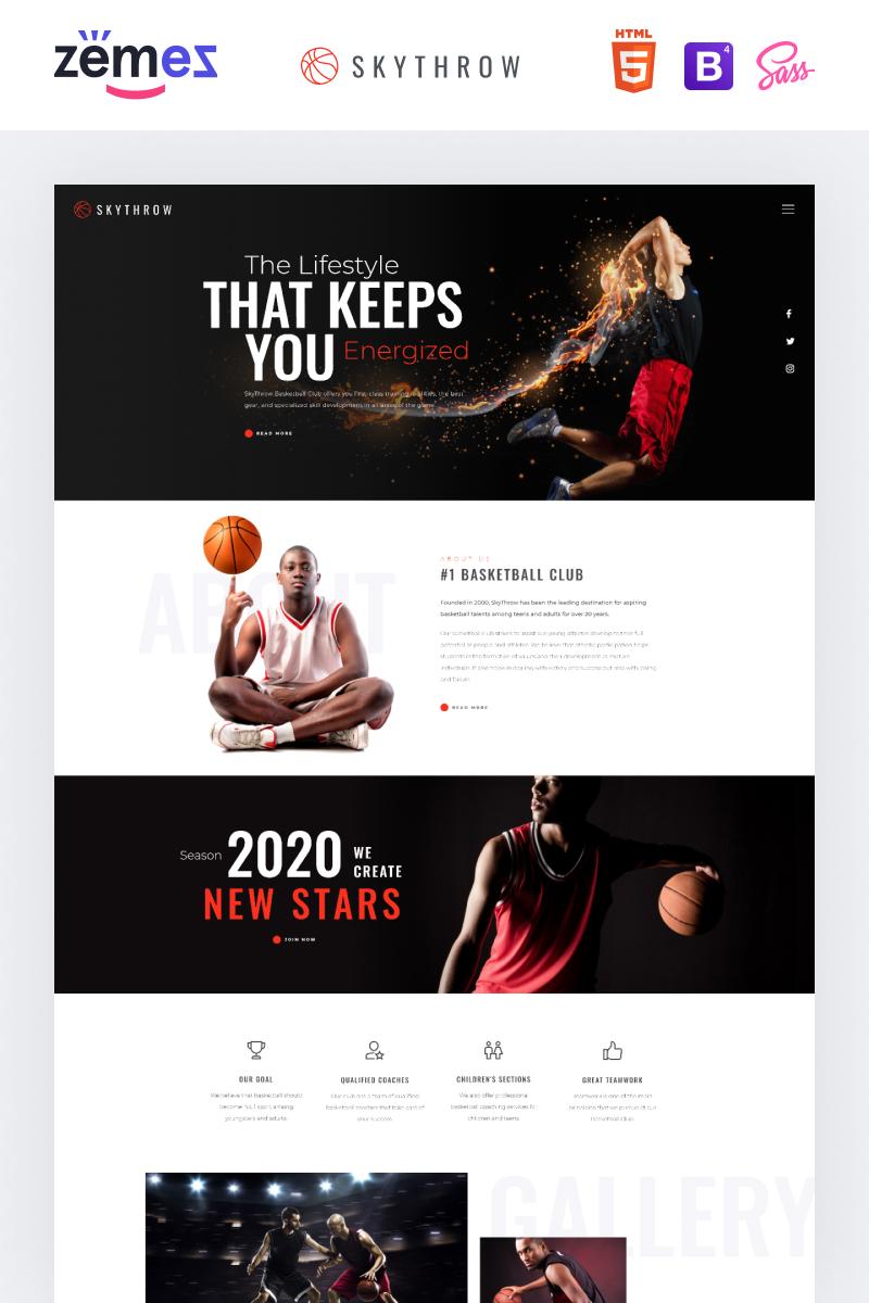 Responsivt SkyThrow - Basketball Club Hemsidemall #98988