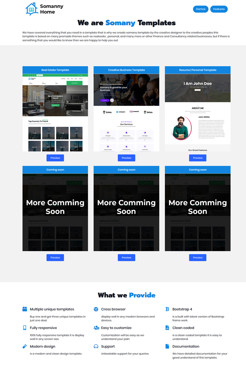 Somany - Multipurpose Theme Website Template