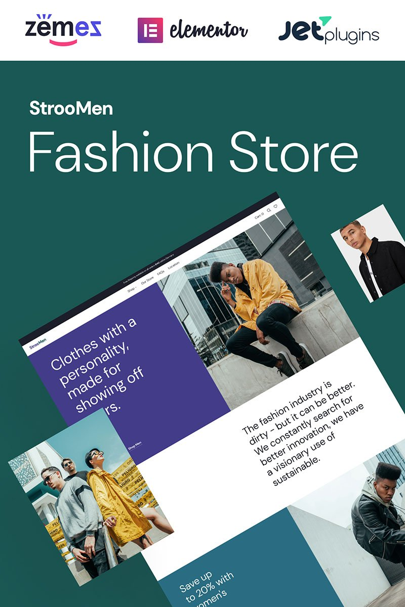 StrooMen - Mens Fashion eCommerce Store WooCommerce Theme - screenshot