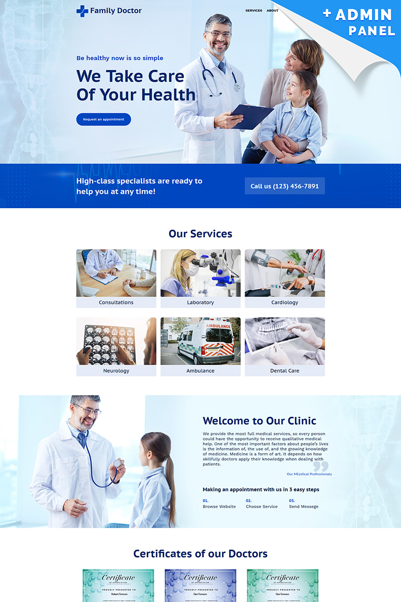 Szablon Landing Page Family Doctor #98973