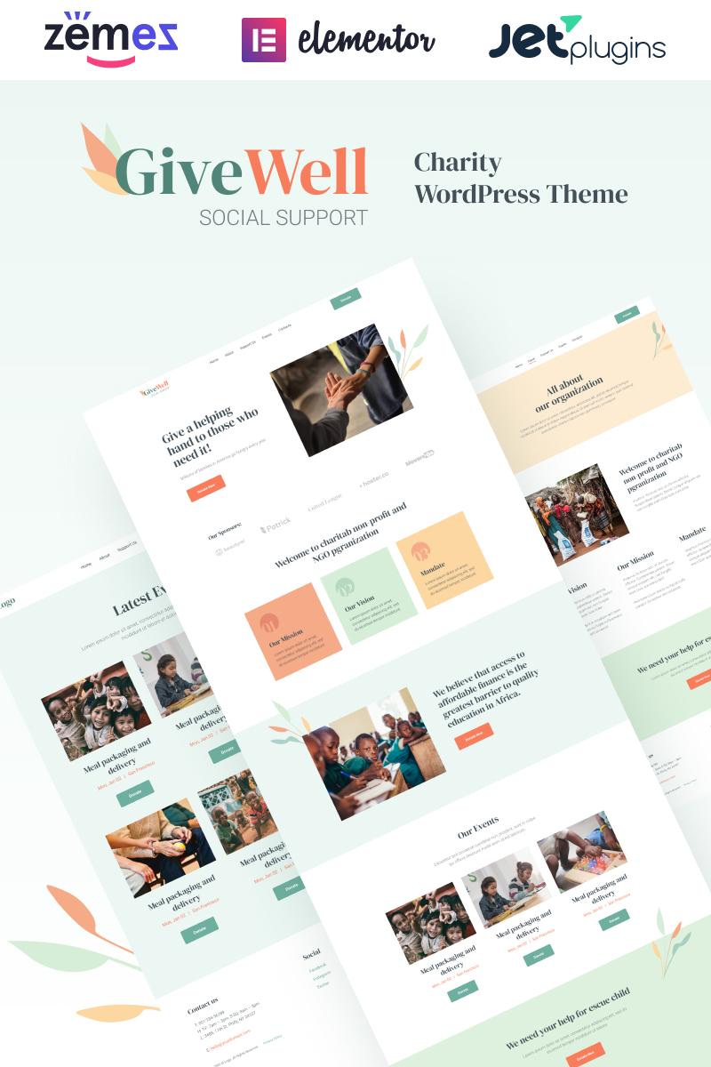 "Tema De WordPress ""GiveWell - Donation Non-profit Website"" #98971"
