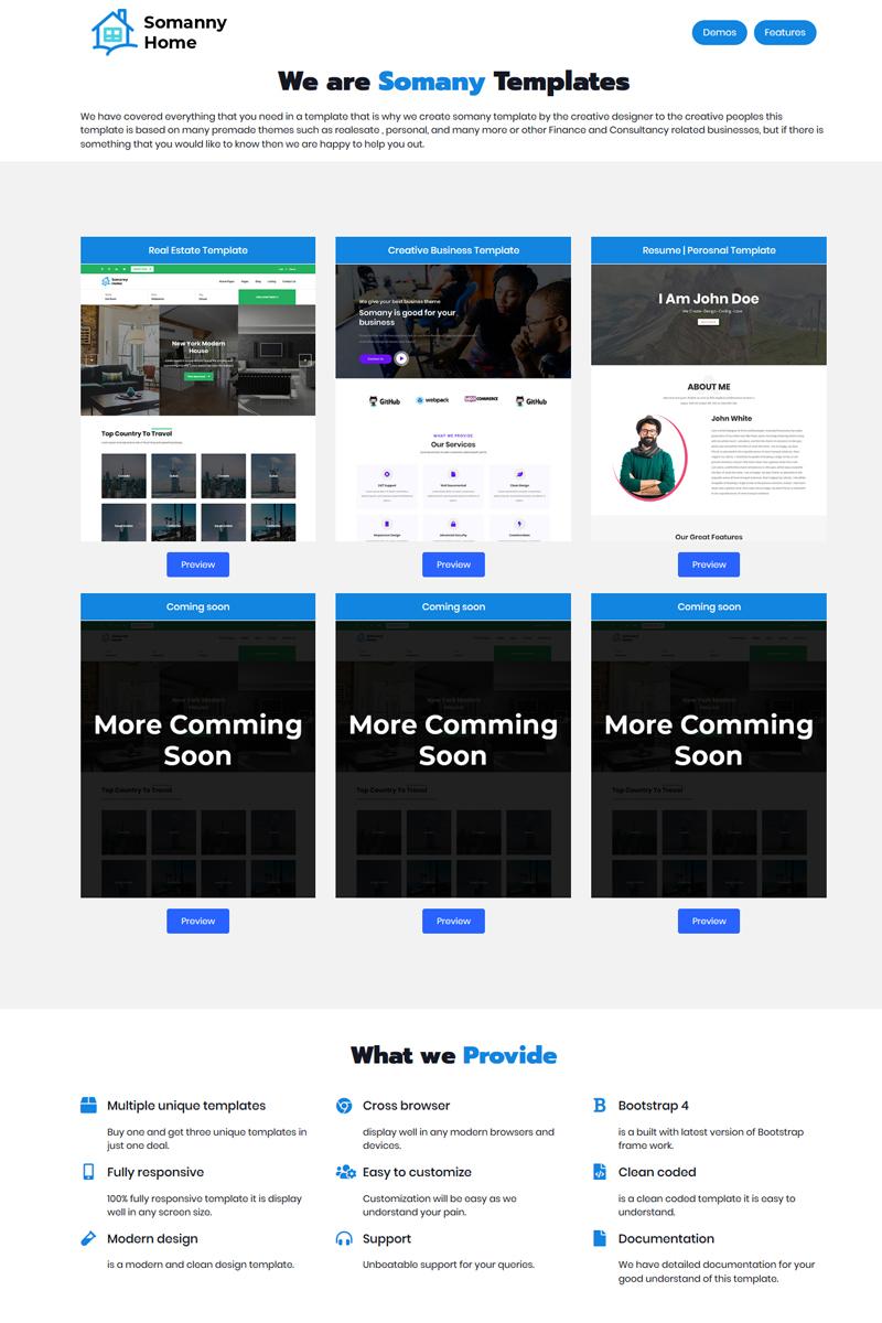 "Tema Siti Web Responsive #98967 ""Somany - Creative Multipurpose HTML5"""