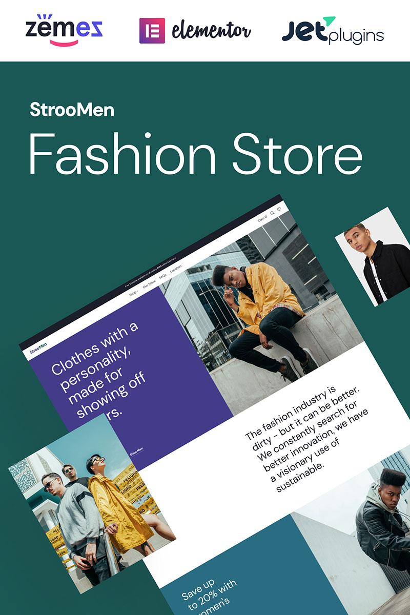 "Tema WooCommerce ""StrooMen - Mens Fashion eCommerce Store"" #98940"