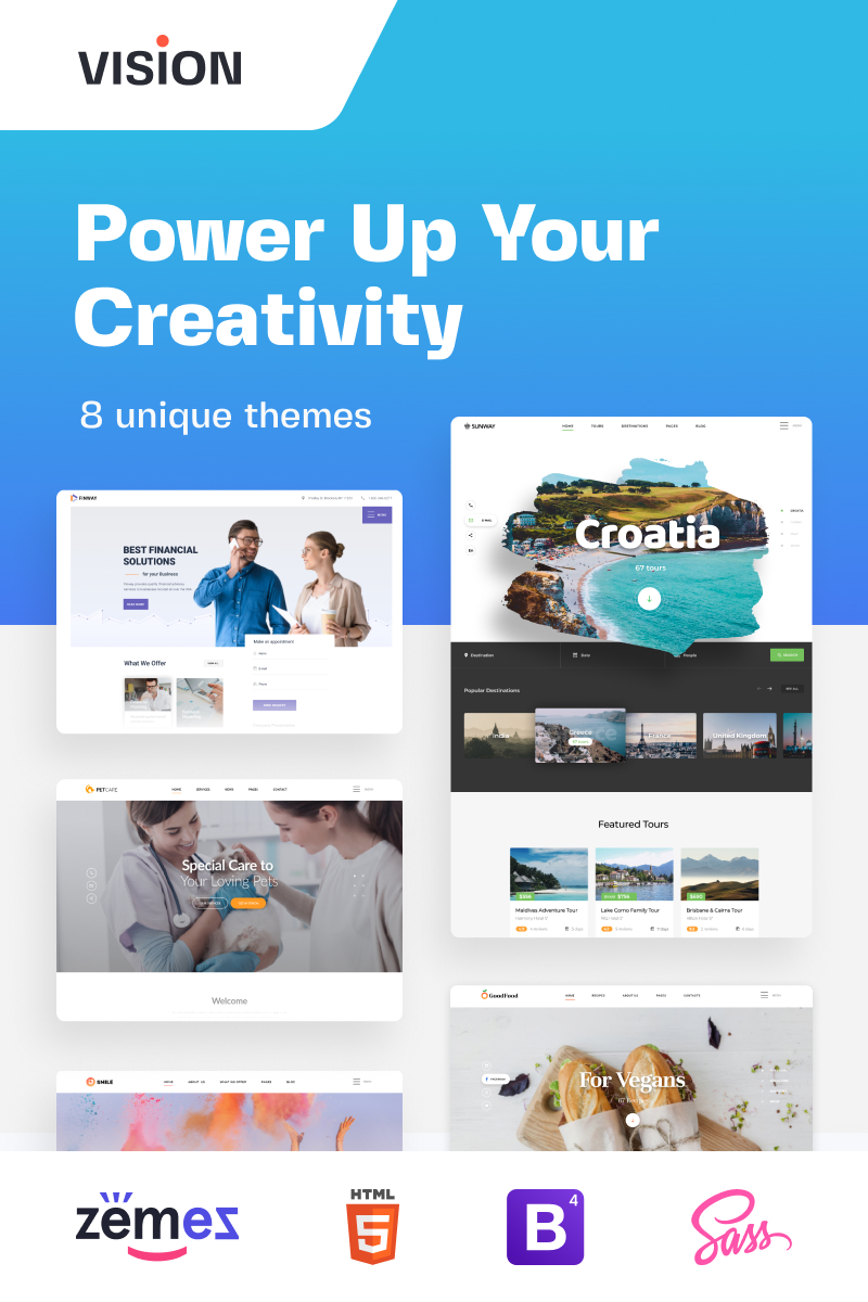 Vision - Responsive Multipurpose Website Template