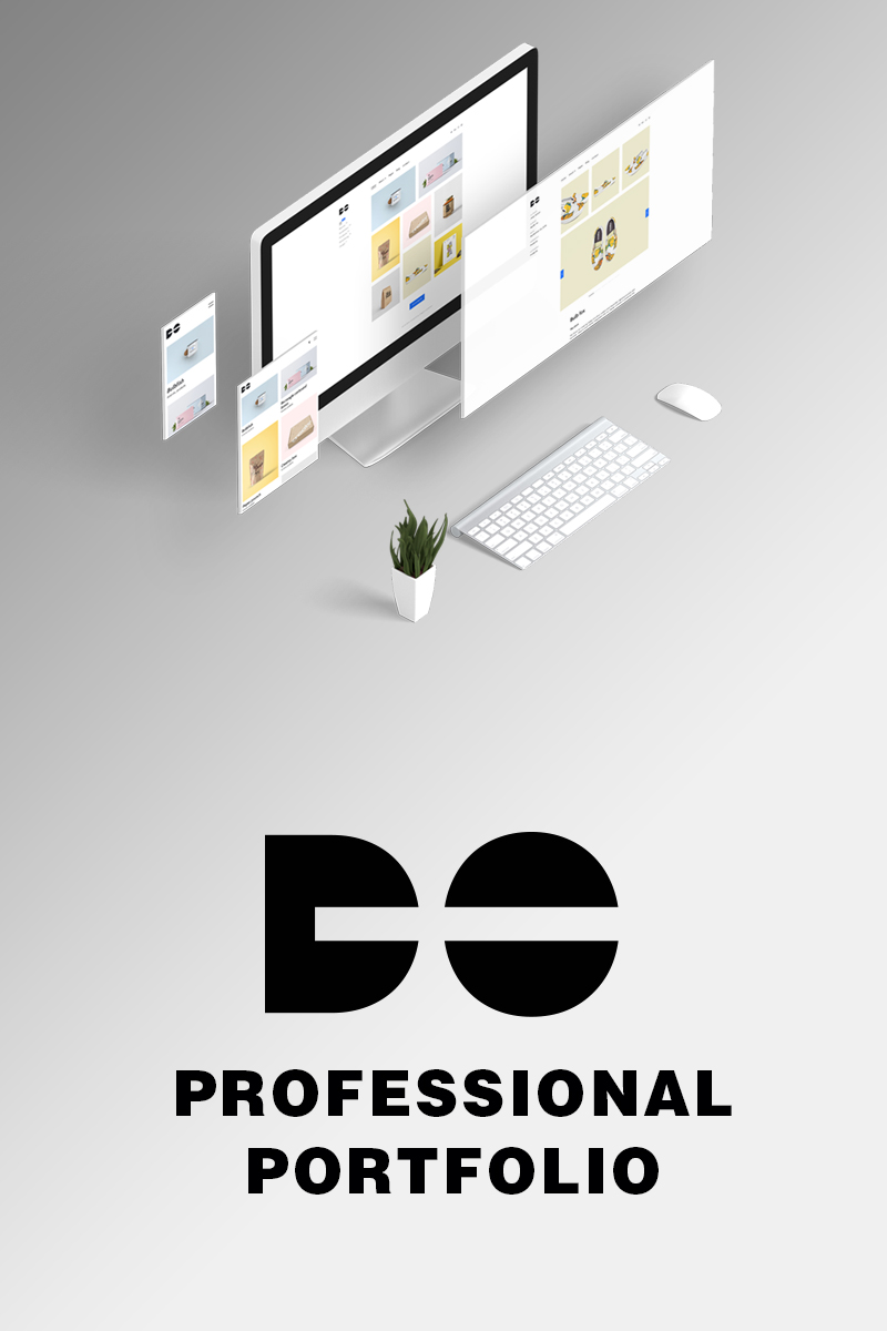 """Website Vorlage namens """"Do - Clean minimal  portfolio HTML"""" #98969"""