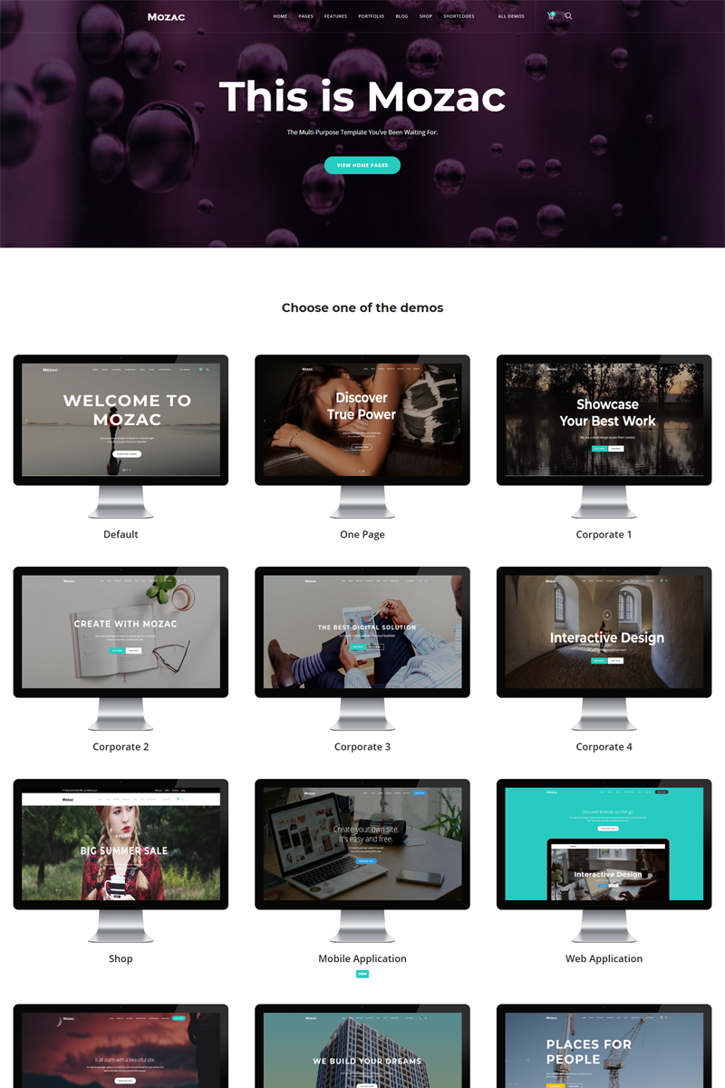 Mozac - Multipurpose HTML5 Website Template
