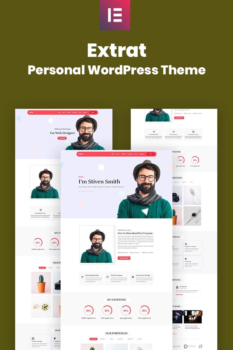 Responsywny motyw WordPress Extrat - Personal Responsive #99086