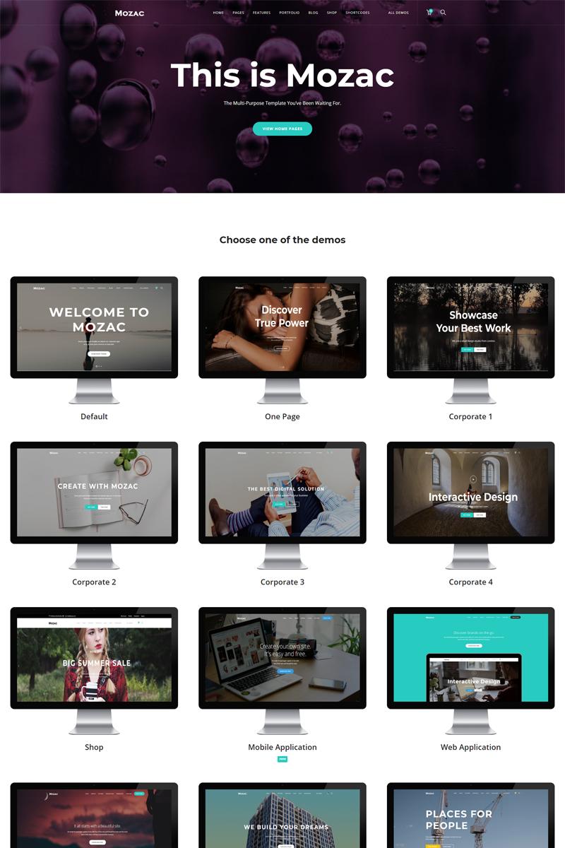 Reszponzív Mozac - Multipurpose HTML5 Weboldal sablon 99083