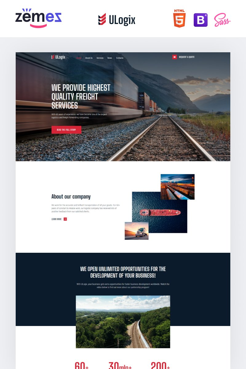 ULogix - Logistics Business Website Template