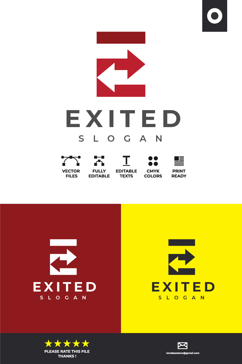 Exited Logo Template