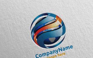 Global Modern Technology Design 1 Logo Template