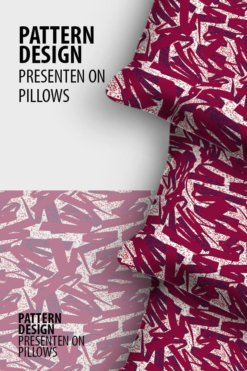 "Pattern ""Scattered random ribbon repeat design"" #99102"