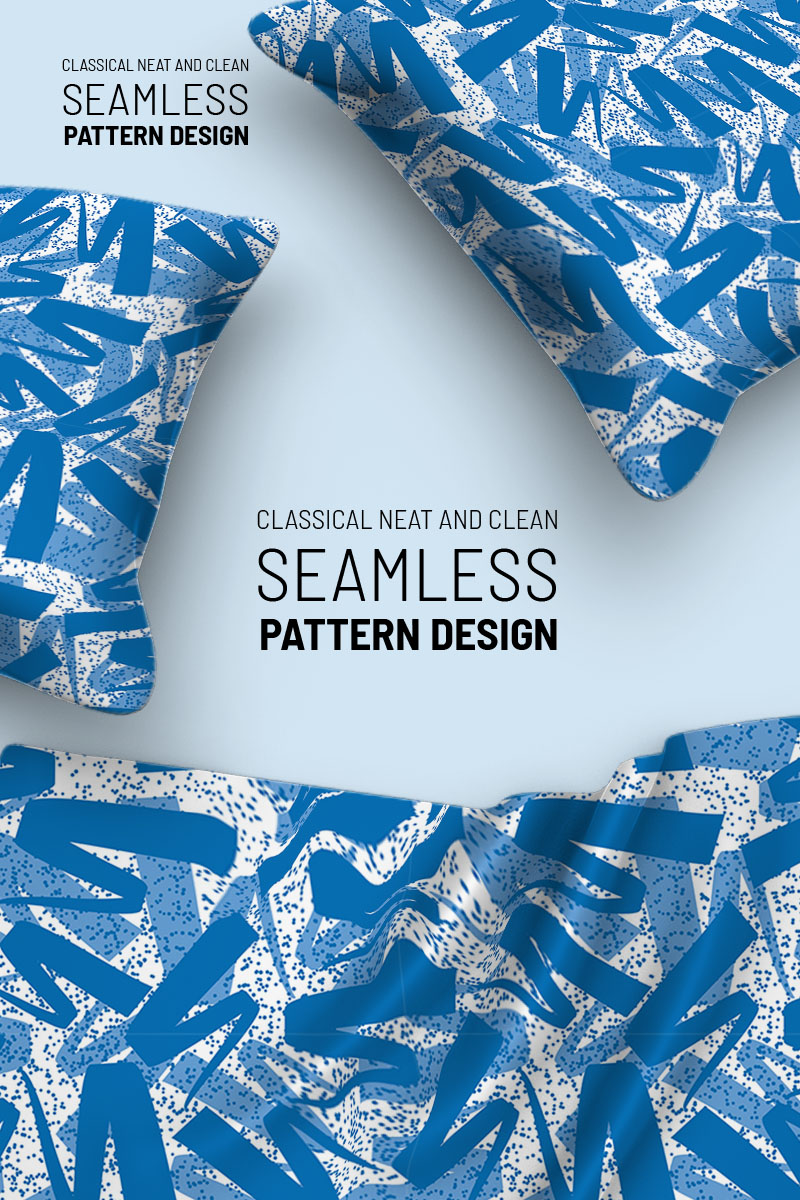 Random standard ribbon scattered repeat design Pattern №99105