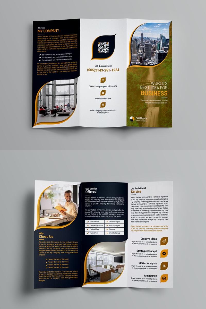 Tri Fold Brochure Corporate Identity Template 99138