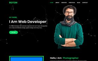 Roton Personal Portfolio Landing Page Template