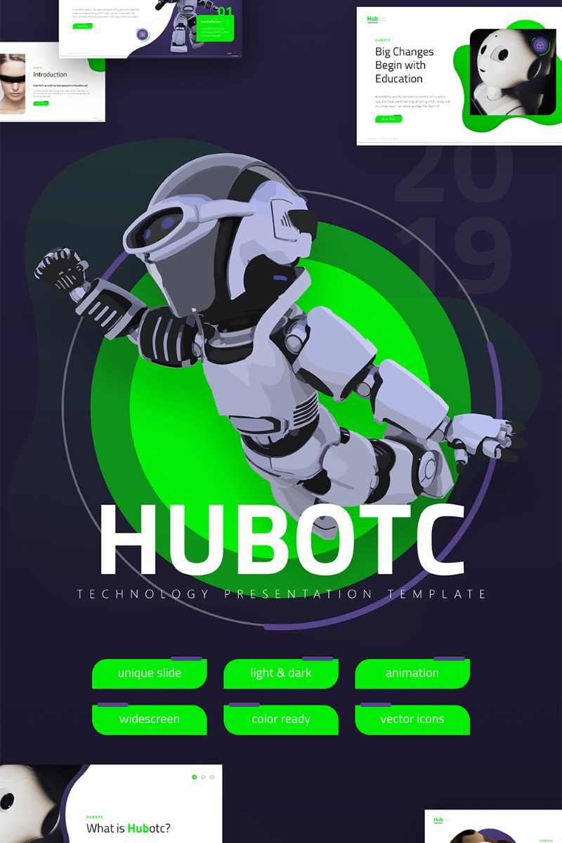 Hubotc Technology Presentation Fully Animated PowerPoint Template