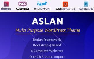 Aslan | Multi-Purpose Elementor WordPress Theme
