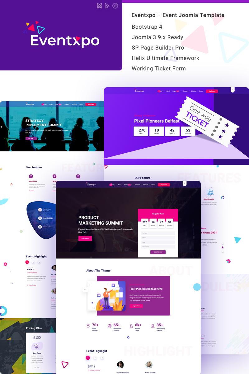 """Bootstrap Joomla šablona """"Eventxpo - Event & Conference"""" #99219"""