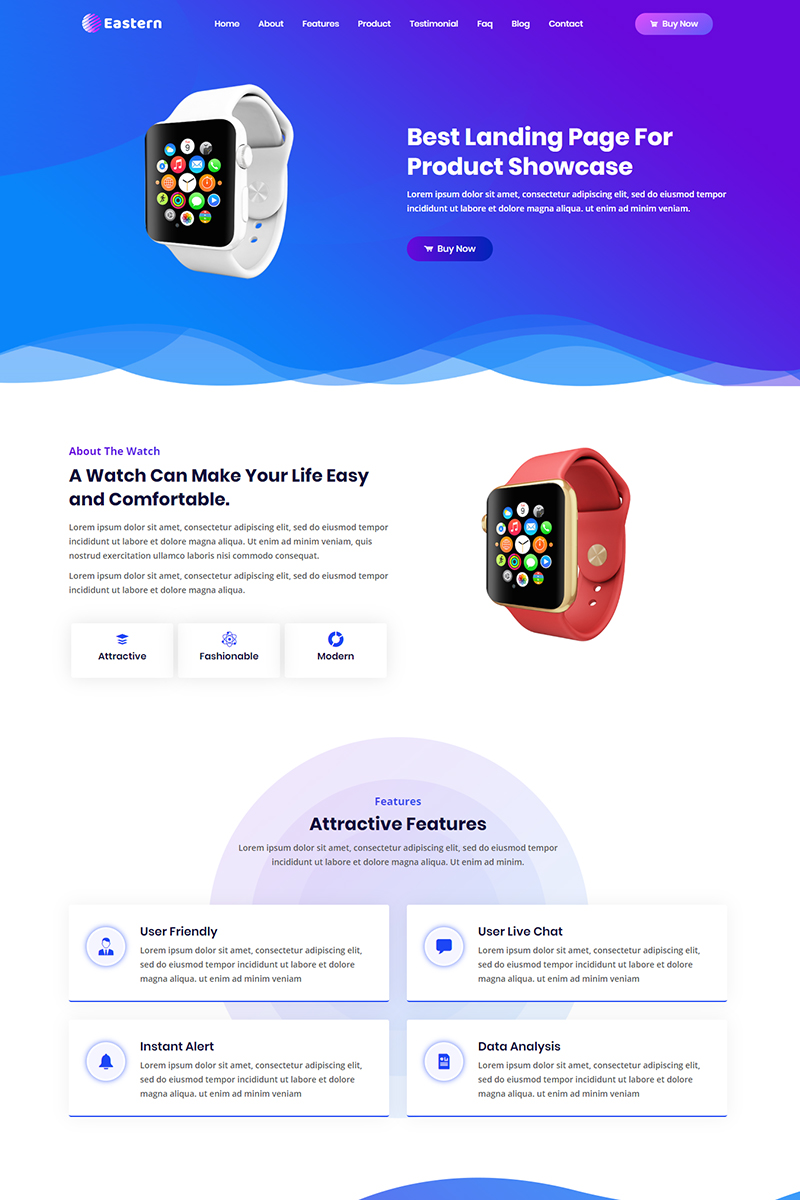 Eastern - Product Landing Page Template