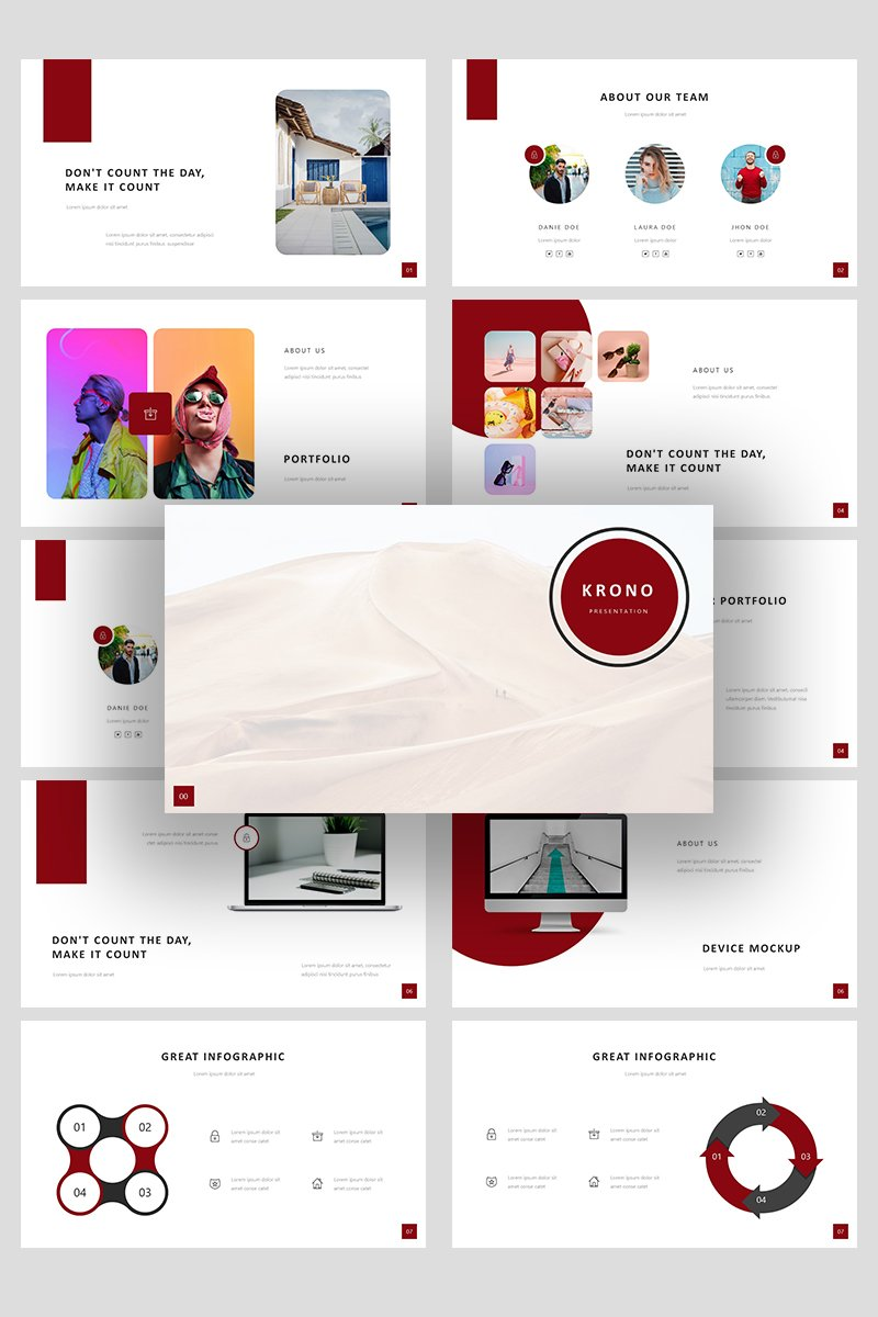 Krono Security Creative Business Powerpoint #99280