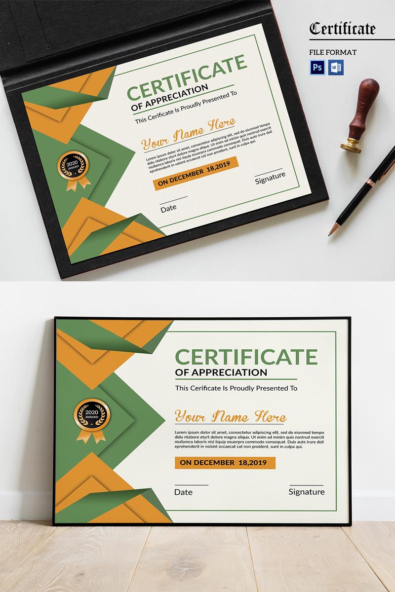 """Plantilla De Certificado """"Appreciation"""" #99247"""