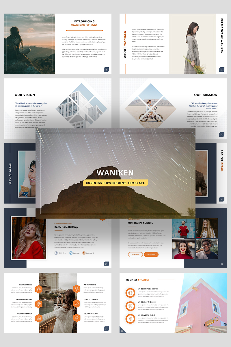 Premium Waniken A Business Presentation PowerPointmall #99292
