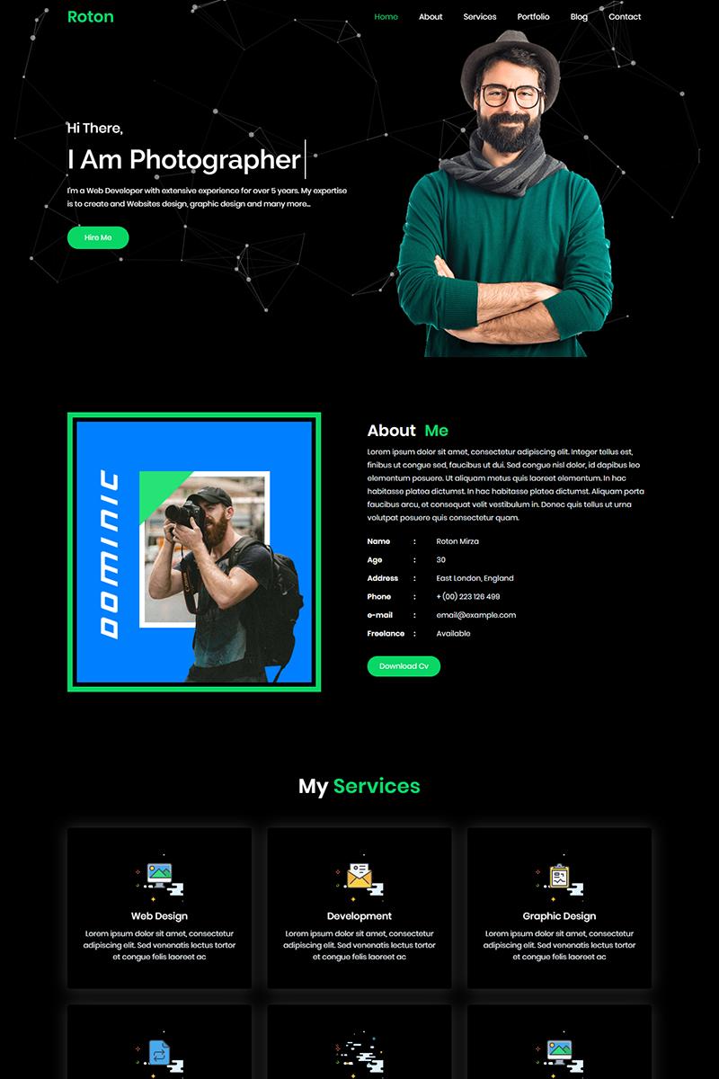 Roton Personal Portfolio Templates de Landing Page №99215