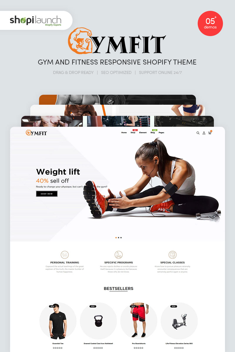 """Tema Shopify """"GymFit - Gym And Fitness Responsive"""" #99209"""
