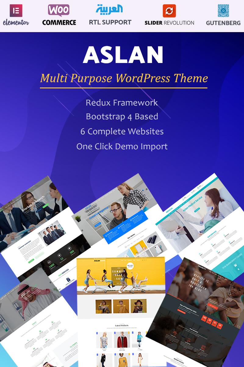 """Tema WordPress Responsive #99222 """"Aslan - Multi-Purpose"""""""