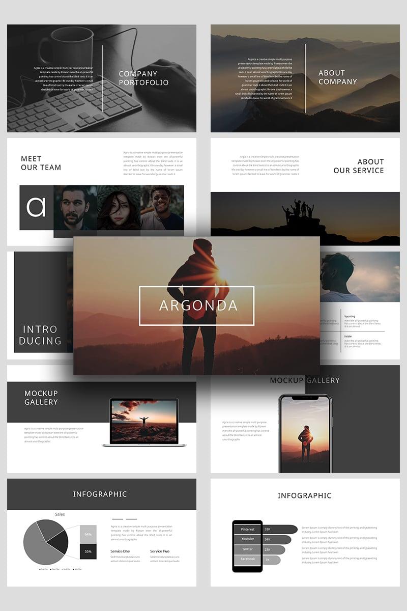 Argonda Creative Business Powerpoint #99375