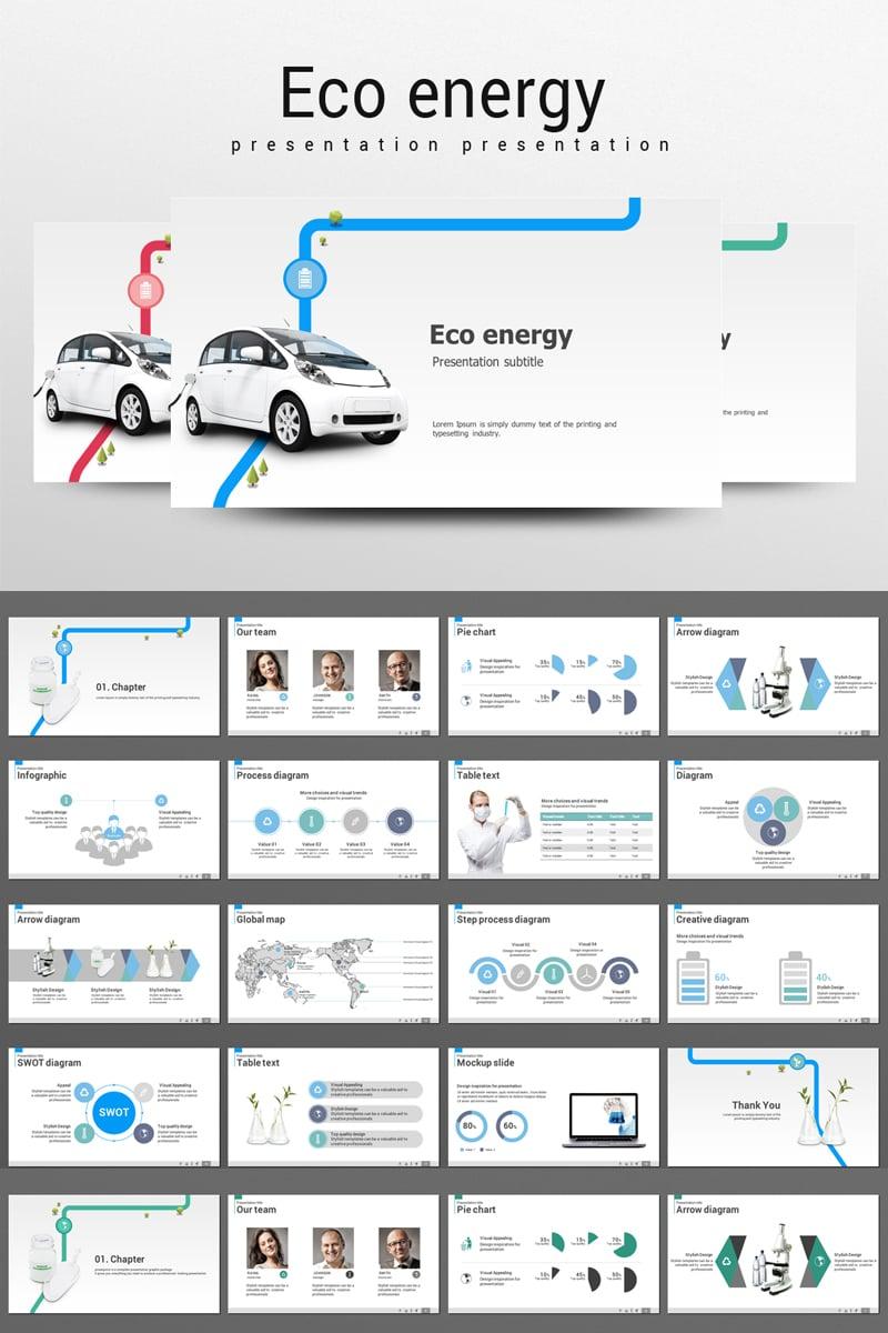 Green car PowerPoint Template
