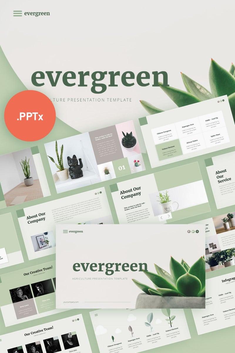 "Plantilla PowerPoint ""Evergreen Minimalist Presentation"" #99324"