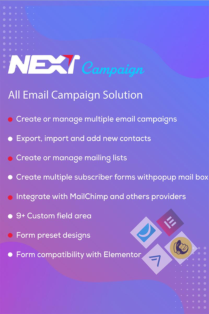 Reszponzív Manage Contacts / Email Marketing / Subscribe  - Next Campaign WordPress bővítmény 99341