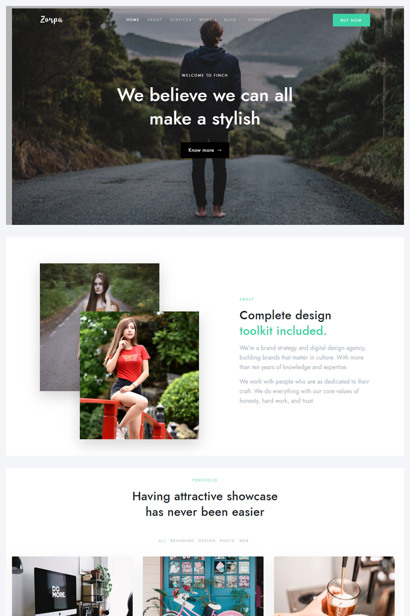 "Tema Siti Web Responsive #99342 ""Zorpa - Creative Multipurpose HTML5"""