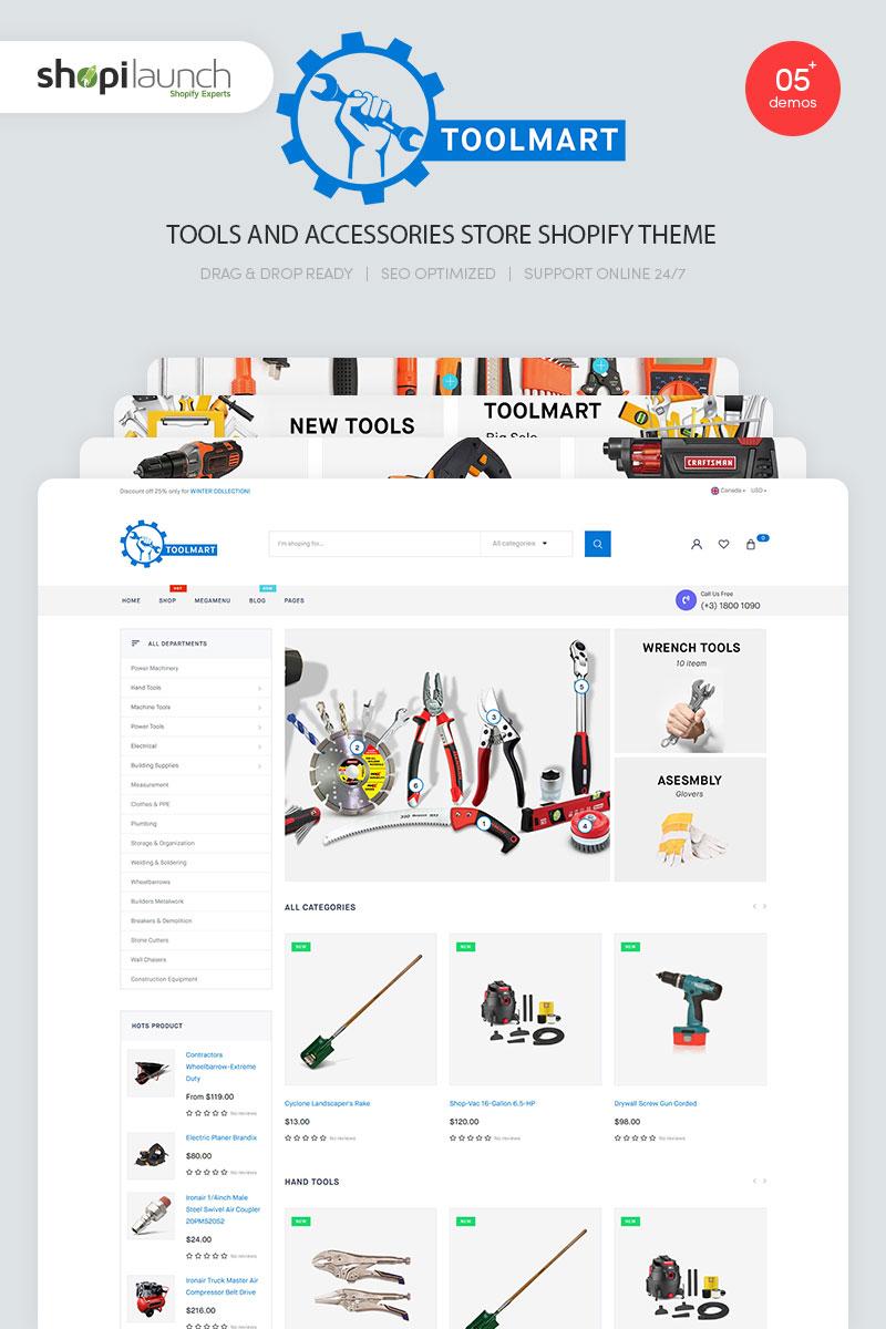 """ToolMart - Tools & Accessories Store Responsive"" thème Shopify  #99337"