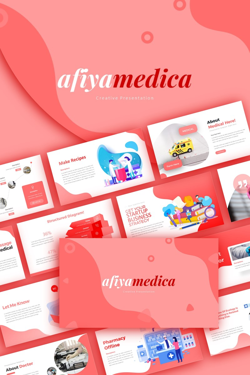 Afiyamedica Medical Presentation PowerPoint Template