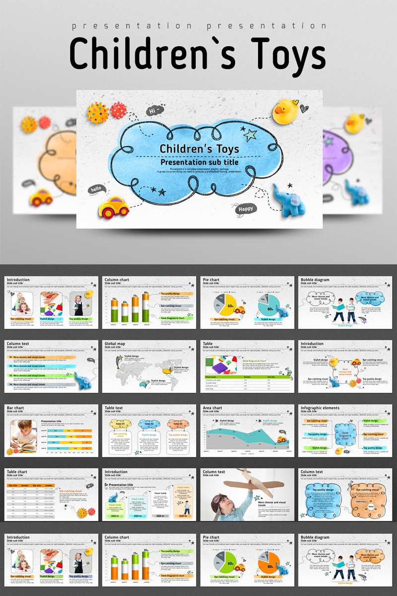 Children's Toys PowerPoint Template