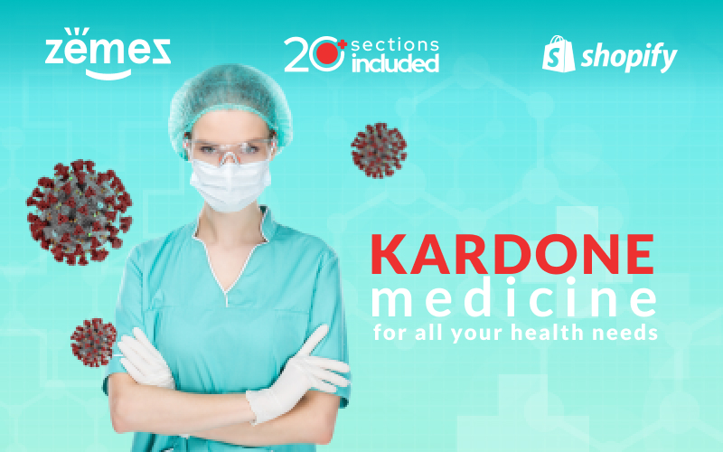 """KarDone Medicine Online Store Template"" Responsive Shopify Thema №99455"