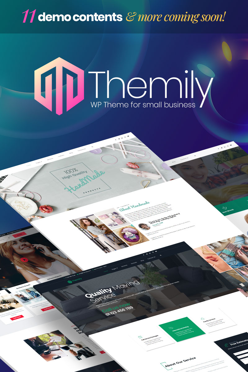 Responsive Themily Pro Small Business Multipurpose Wordpress #99498