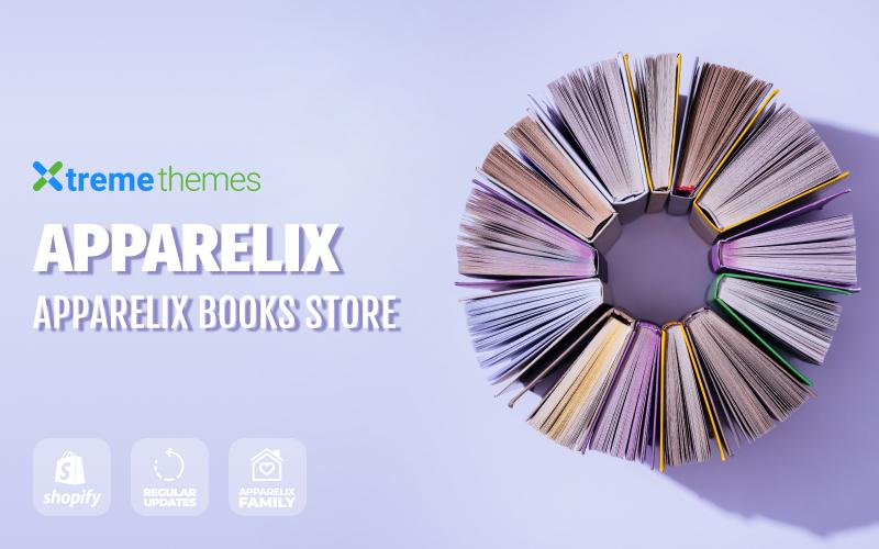 Responsywny szablon Shopify Apparelix Books Online Store Template #99434