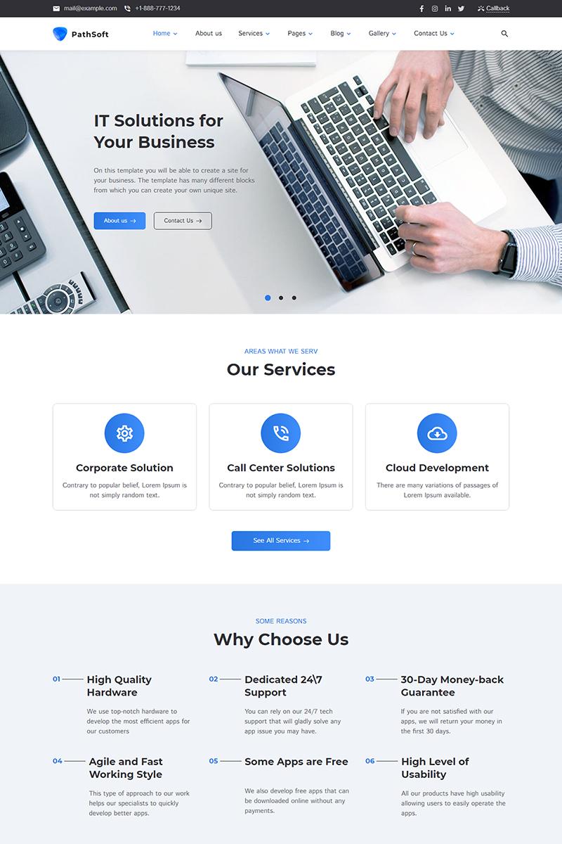 "Responzivní WordPress motiv ""PathSoft - IT Solutions for Your Business Services"" #99496"