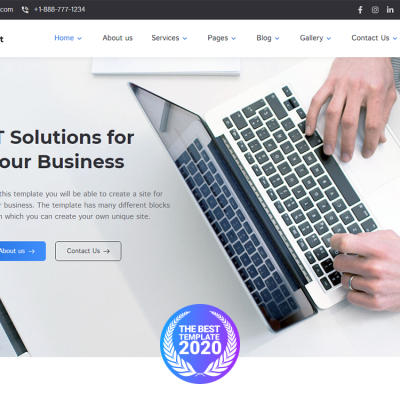 "WordPress шаблон ""PathSoft - IT Solutions for Your Business Services WordPress Theme"" #99496"