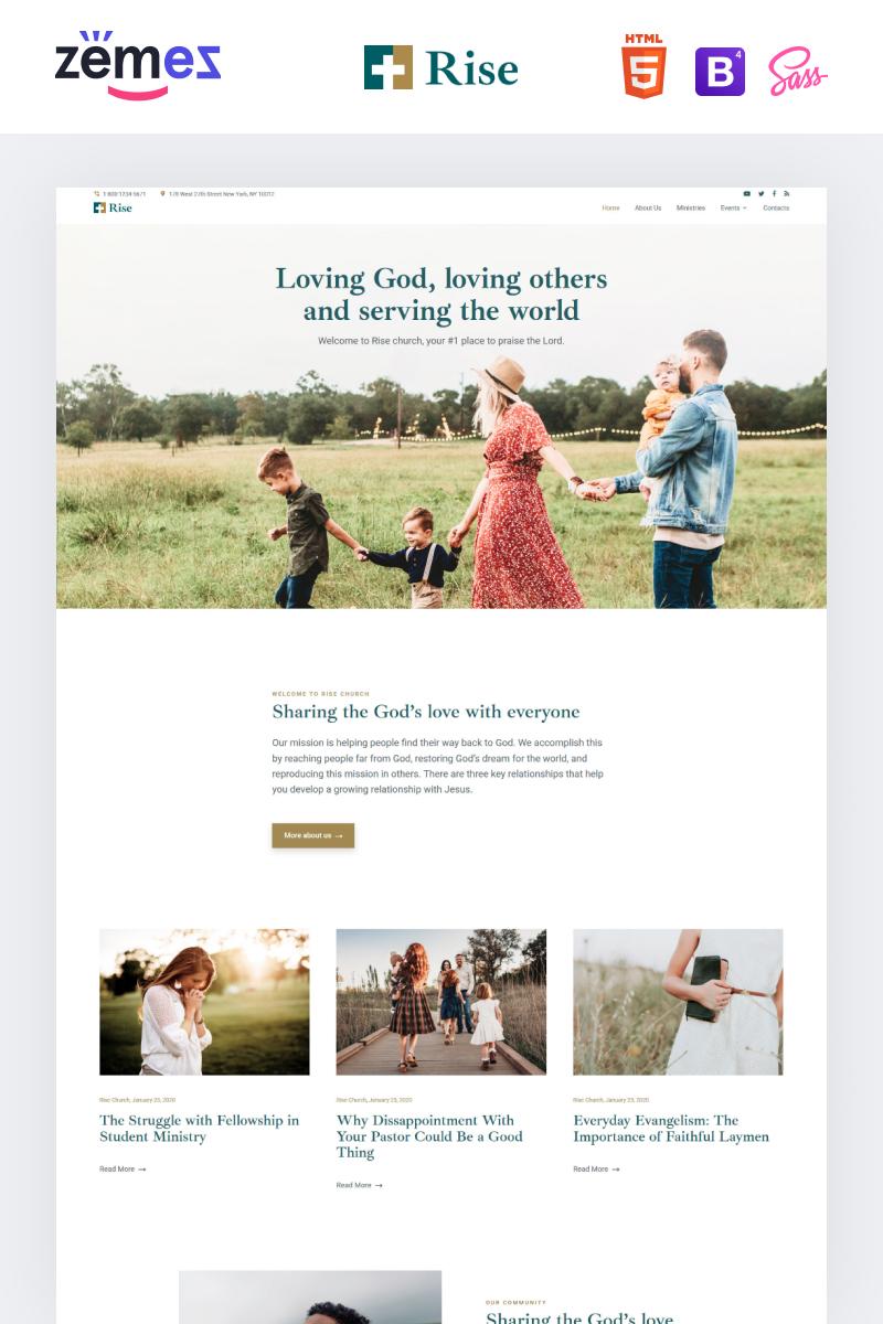Reszponzív Rise - Responsive Church Weboldal sablon 99502