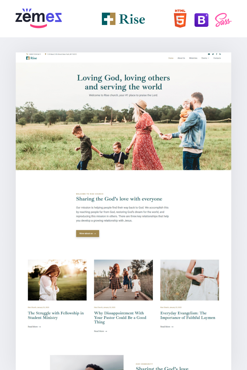 Rise - Responsive Church Website Template