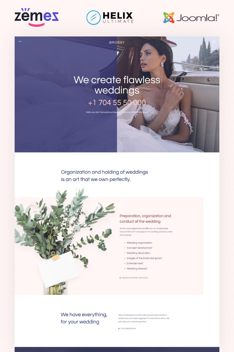 "Tema Joomla Responsive #99501 ""Bridesy - Wedding Planner"""