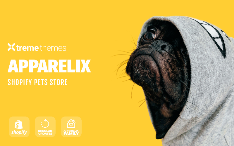 """""""Apparelix Pets Online Store Template"""" 响应式Shopify模板 #99605"""