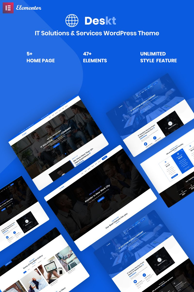 Deskt - IT Service & Solutions Responsive WordPress Theme